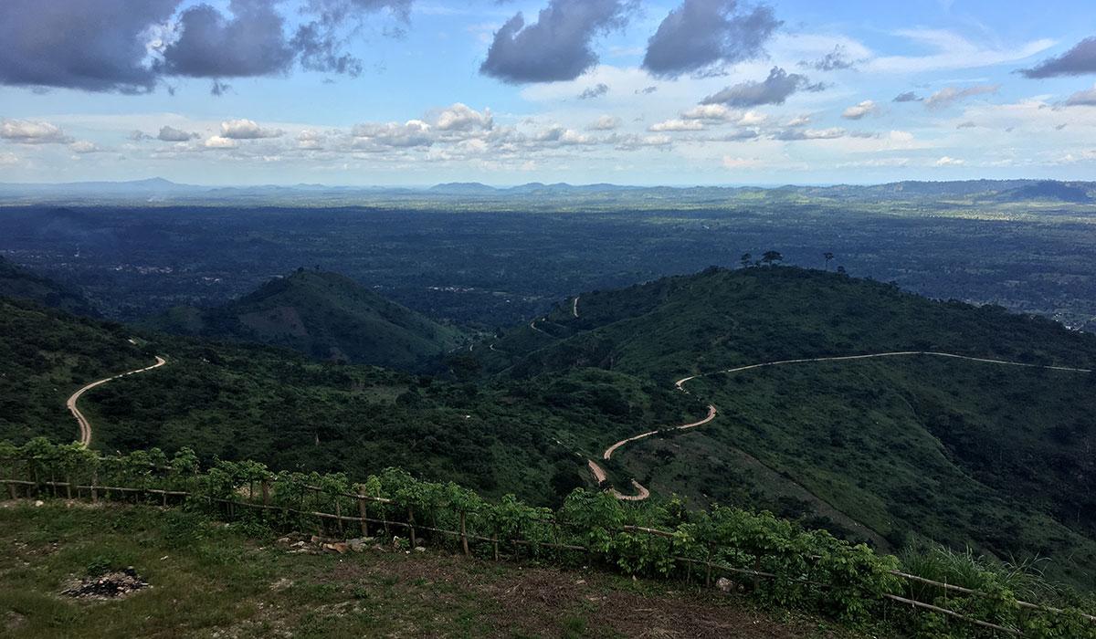 Blick von Golden Eye auf die Ebene von Kpalime