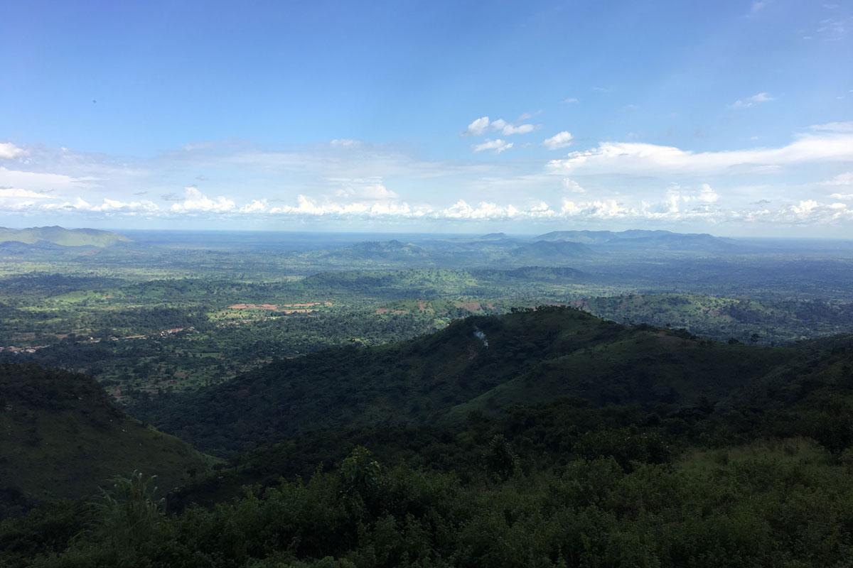 Blick vom Plateaux auf die Ebene vor Kpalime