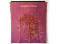 Batik Wandbehang - Kontinent Afrika - Pink