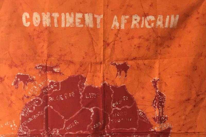 Batik Wandbehang - Kontinent Afrika