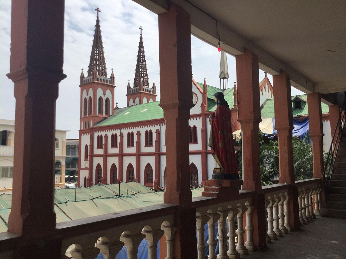 Die Kathedrale in Lome im Sommer 2017